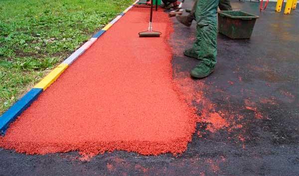 технология укладки резинового покрытия